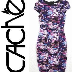 Cache size 6 purple flower dress